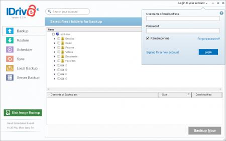 IDrive Online Backup 6.3.0.4 резервное копирование файлов.
