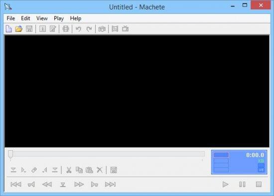 Machete проигрыватель и редактор видео.