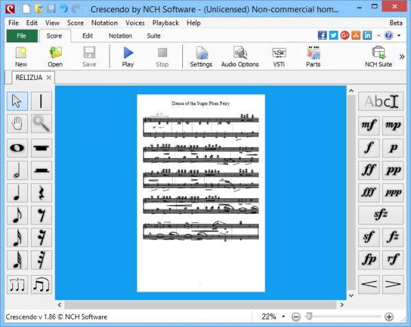 Crescendo Music Notation Editor музыкальные композиции.