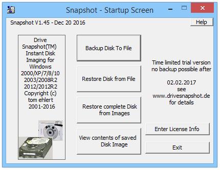 Drive SnapShot портативная версия.