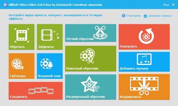 GiliSoft Video Editor 8.0 на русском.