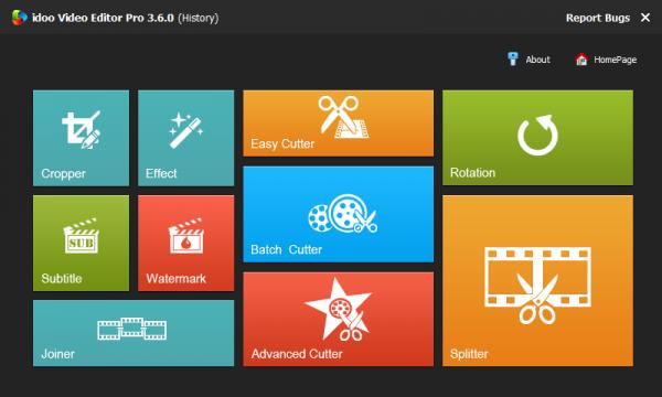 Idoo Video Editor Pro редактор видеофайлов