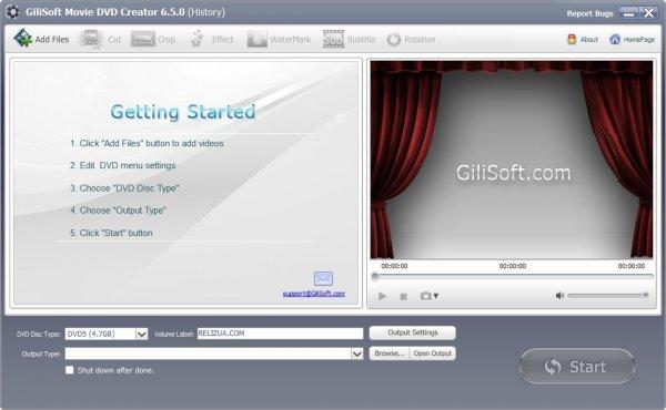 GiliSoft Movie DVD Creator для Windows.