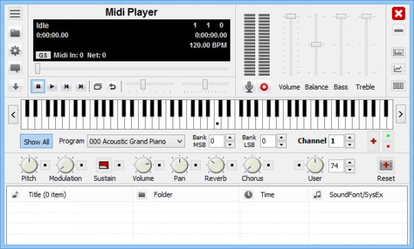 Soundfont Midi Player - Миди плеер для Windows.